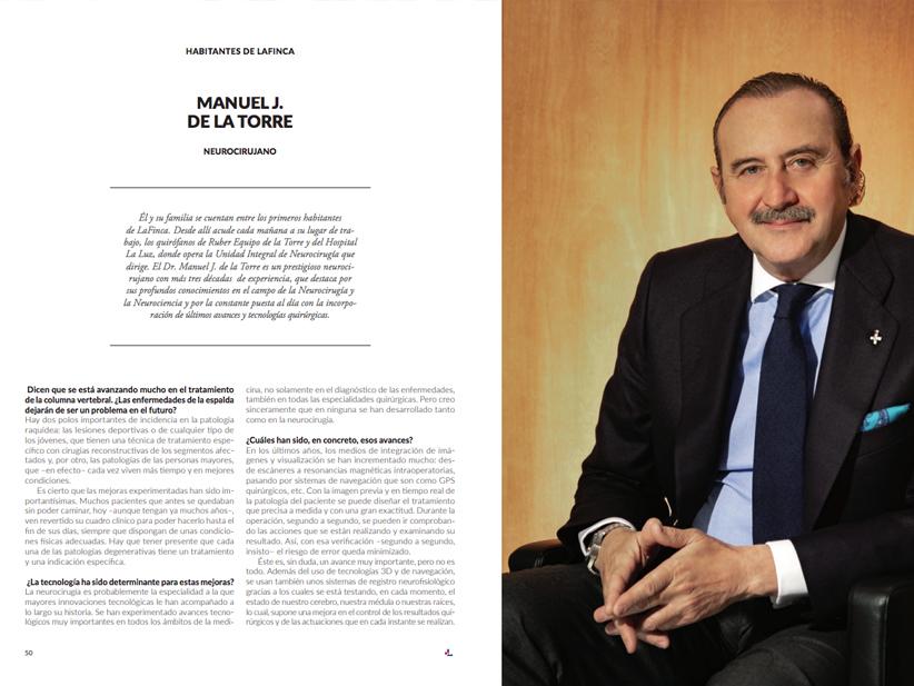La revista LaFinca entrevista al Dr. Manuel de la Torre sobre Neurocirugía y sus últimos avances
