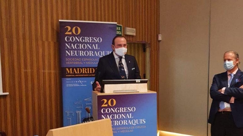 El Dr. De la Torre, reconocido en el Congreso Nacional Neuroraquis
