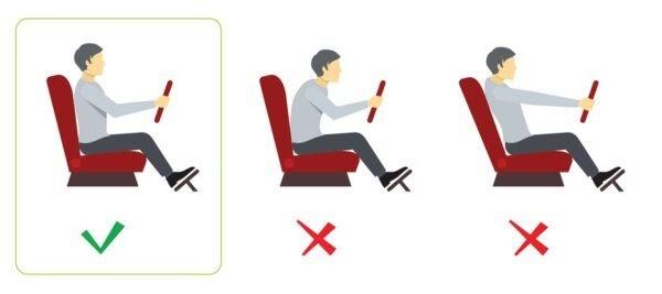 consejos para tener buenas posturas en el coche