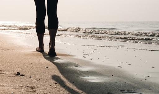 las caminatas en la playa