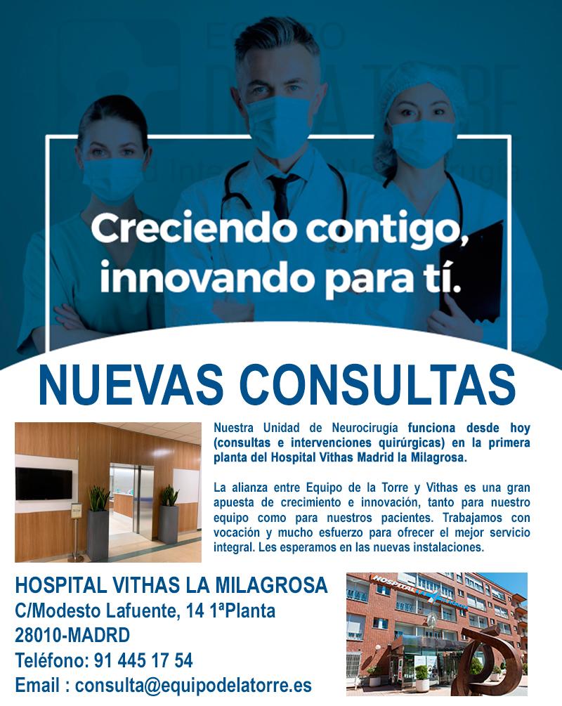 NUEVAS CONSULTAS Neurocirugía Equipo de la Torre